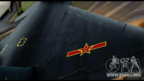 Chenyang J-20 BF4 para visión interna GTA San Andreas