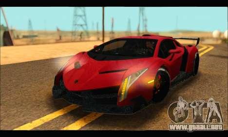 Lamborghini Veneno 2013 HQ para GTA San Andreas vista hacia atrás
