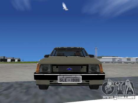 Chevrolet Chevette Hatch para GTA San Andreas vista posterior izquierda