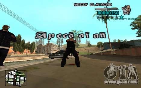 C-HUD Weezy para GTA San Andreas tercera pantalla
