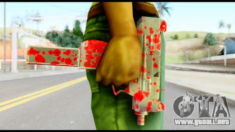 Micro SMG with Blood para GTA San Andreas tercera pantalla