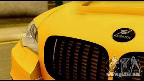 BMW X6 Hamann para GTA San Andreas vista hacia atrás