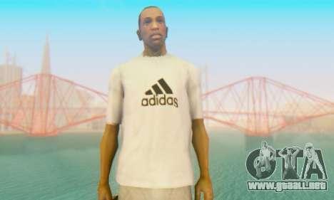 Adidas Shirt White para GTA San Andreas tercera pantalla
