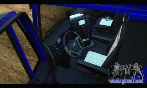 Iveco Trakker 2014 para GTA San Andreas vista hacia atrás
