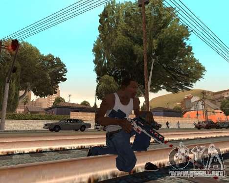 Año nuevo arma pack v2 para GTA San Andreas segunda pantalla
