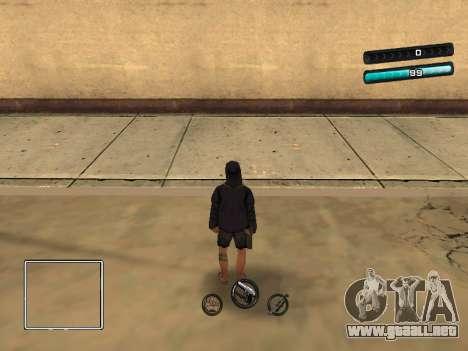 C-HUD Azure para GTA San Andreas segunda pantalla