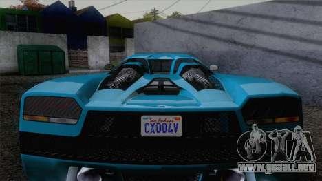 GTA V Overflod Entity XF v.2 para la visión correcta GTA San Andreas