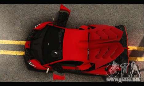 Lamborghini Veneno 2013 HQ para la vista superior GTA San Andreas