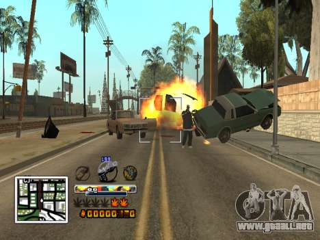 C-Color HUD (mejorado) para GTA San Andreas quinta pantalla