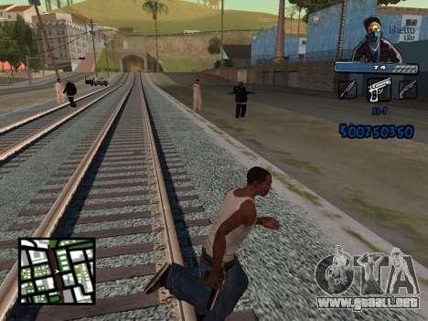 C-HUD Unique Ghetto para GTA San Andreas tercera pantalla