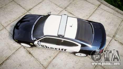 Dodge Charger SRT8 2010 Sheriff [ELS] para GTA 4 visión correcta