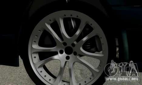 Mercedes-Benz W124 BRABUS V12 para GTA San Andreas vista hacia atrás