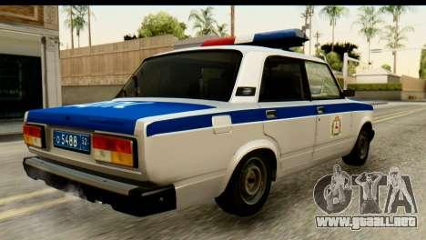 VAZ 2107 DPS para GTA San Andreas left