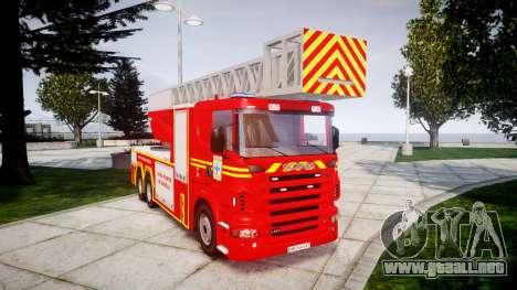 Scania R580 Marseille Fireladder [ELS] para GTA 4