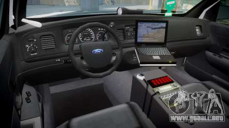Ford Crown Victoria Martin County Sheriff [ELS] para GTA 4 vista hacia atrás