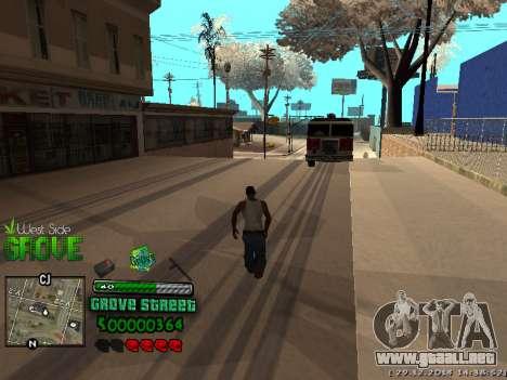 C-HUD Grove Street para GTA San Andreas séptima pantalla