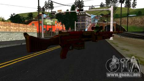 Navidad Ametralladora para GTA San Andreas segunda pantalla