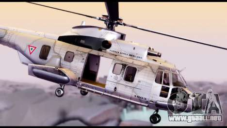 EC-725 Super Cougar para GTA San Andreas vista posterior izquierda
