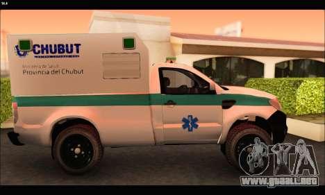Ford Ranger 2013 Ambulancia Chubut para GTA San Andreas left