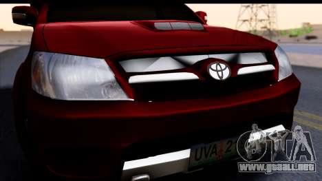 Toyota Hilux FB para la visión correcta GTA San Andreas