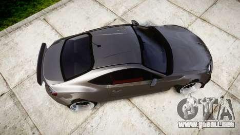 Toyota GT-86 Rocket Bunny Camber para GTA 4 visión correcta