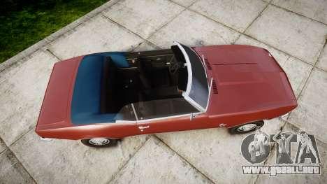 Chevrolet Camaro Mk.I 1968 rims1 para GTA 4 visión correcta