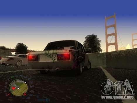 VAZ 2105 Rusty comedero para visión interna GTA San Andreas