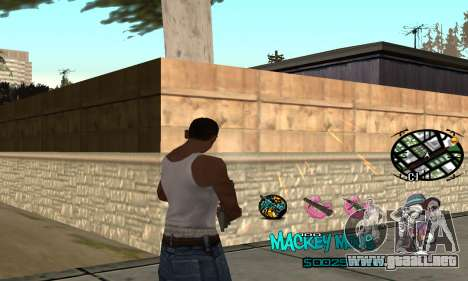 C-HUD Mickey Mouse para GTA San Andreas segunda pantalla
