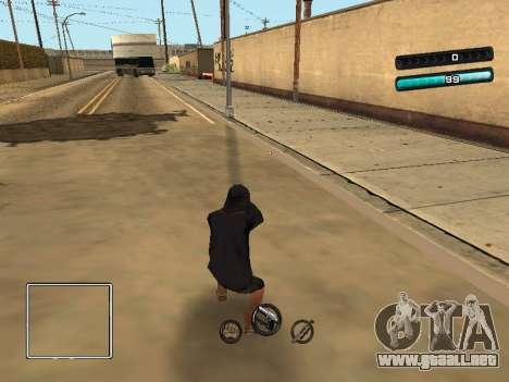 C-HUD Azure para GTA San Andreas tercera pantalla