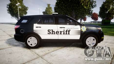 Ford Explorer 2013 County Sheriff [ELS] para GTA 4 left