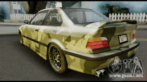 BMW M3 E36 Camo Drift para GTA San Andreas left