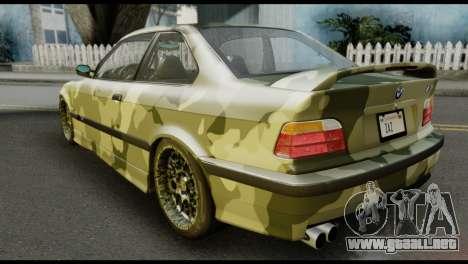 BMW M3 E36 Camo Drift para GTA San Andreas left