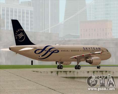 Airbus A320-200 Air France Skyteam Livery para el motor de GTA San Andreas