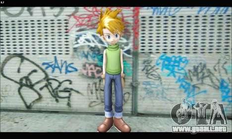 Yamato Ishida (Digimon) para GTA San Andreas tercera pantalla