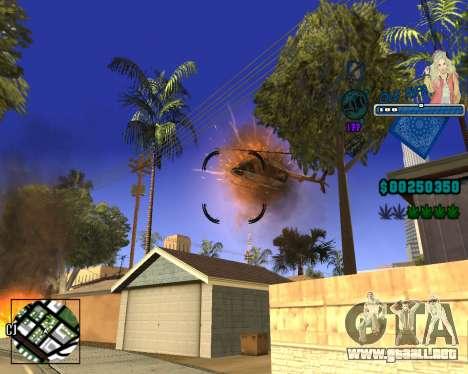 C-HUD Old Rifa para GTA San Andreas quinta pantalla