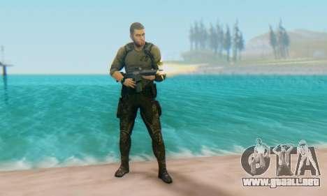 Sam Fisher - Paladin Outfit (Splinter Cell Black para GTA San Andreas segunda pantalla