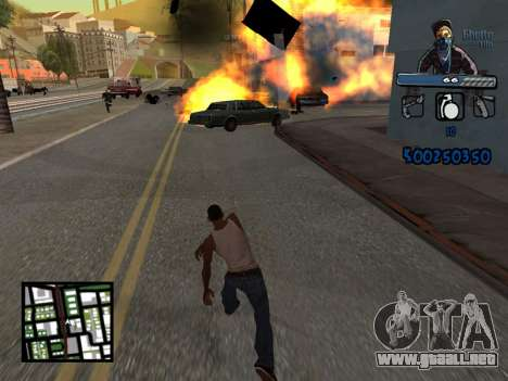 C-HUD Unique Ghetto para GTA San Andreas quinta pantalla