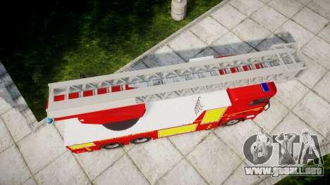 Scania R580 Paris Fireladder [ELS] para GTA 4 visión correcta