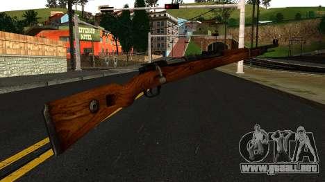 Mauser 98K from Wolfenstein 2009 para GTA San Andreas segunda pantalla