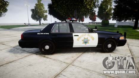 Ford Crown Victoria Highway Patrol [ELS] Vision para GTA 4 left