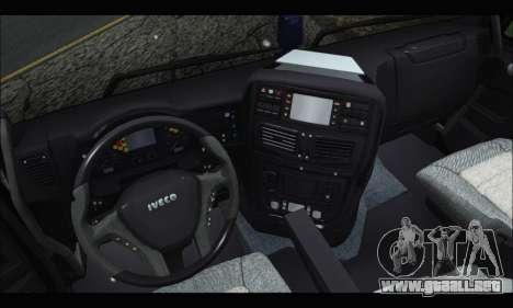 Iveco Trakker 2014 Tipper Snow (IVF & ADD) para la visión correcta GTA San Andreas