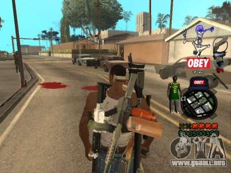 C-HUD Sweet para GTA San Andreas sucesivamente de pantalla
