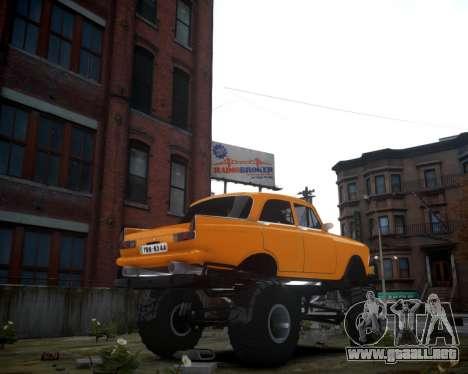 Moskvich 412 Monstruo para GTA 4 Vista posterior izquierda