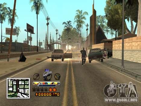 C-Color HUD (mejorado) para GTA San Andreas sucesivamente de pantalla