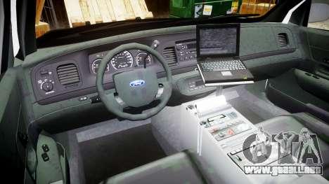 Ford Crown Victoria 2008 LCPD [ELS] para GTA 4 vista hacia atrás
