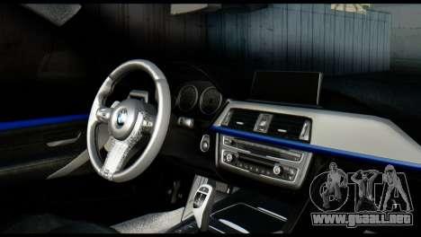 BMW 4-Series Coupe M Sport 2014 para GTA San Andreas vista posterior izquierda