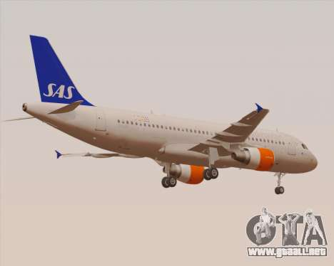 Airbus A320-200 Scandinavian Airlines - SAS para vista inferior GTA San Andreas