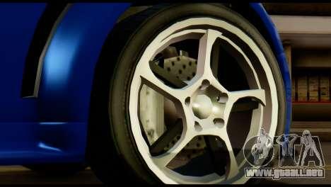 GTA 5 Dewbauchee Rapid GT Cabrio [HQLM] para GTA San Andreas vista hacia atrás