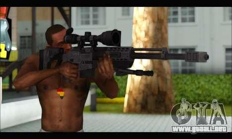 Raab KM50 Sniper Rifle From F.E.A.R. 2 para GTA San Andreas tercera pantalla