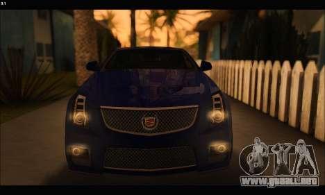 Cadillac CTS-V Coupe para visión interna GTA San Andreas